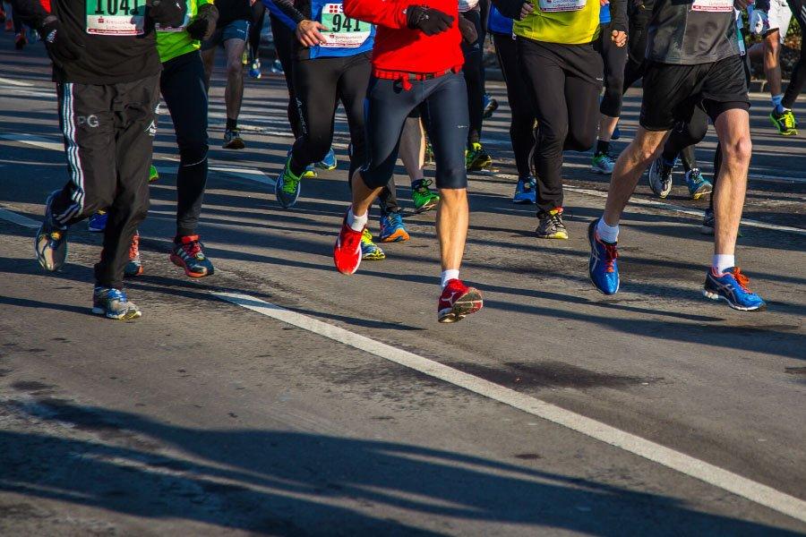 Runners running at a race